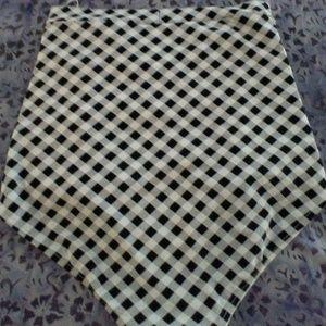 Checkered bikini bottoms.
